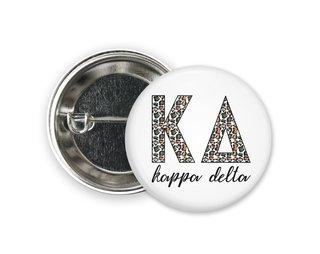 Kappa Delta Leopard Button