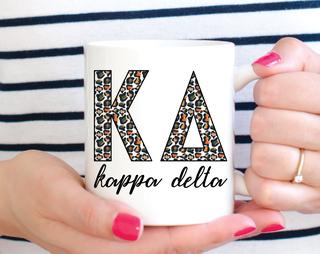 Kappa Delta Leopard Mug