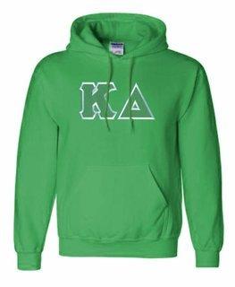 Kappa Delta Lettered Greek Hoodie- MADE FAST!