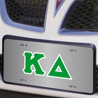 Kappa Delta Lettered License Cover
