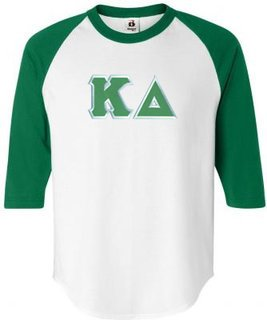 DISCOUNT-Kappa Delta Lettered Raglan Shirt