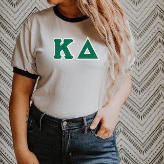 DISCOUNT-Kappa Delta Lettered Ringer Shirt