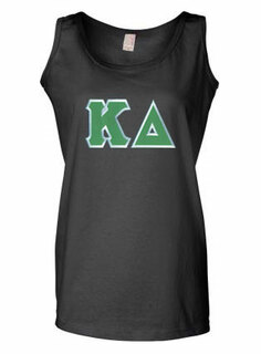 DISCOUNT-Kappa Delta Lettered Ladies Tank Top