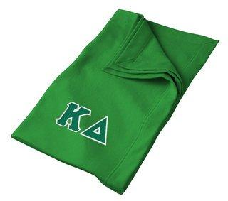 Kappa Delta Lettered Twill Sweatshirt Blanket
