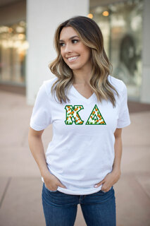 DISCOUNT-Kappa Delta Lettered V-Neck Tee
