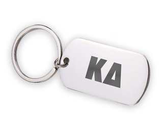 Kappa Delta Letters Stainless Keychain