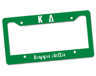 Kappa Delta Custom License Plate Frame