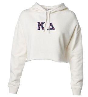 Kappa Delta Lightweight Hooded Pullover Crop Sweatshirt