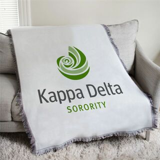 Kappa Delta Logo Afghan Blanket Throw