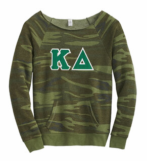 DISCOUNT-Kappa Delta Maniac Camo Fleece Sweatshirt
