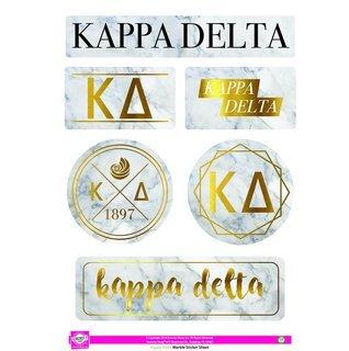 Kappa Delta Marble Sticker Sheet