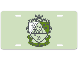 Kappa Delta Crest - Shield License Plate