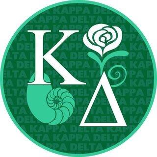 Kappa Delta Mascot Round Decals
