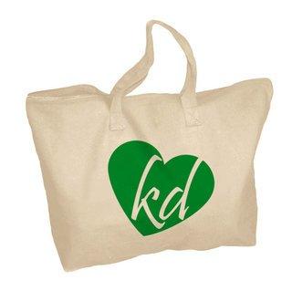 Kappa Delta Mascot Zippered Tote Bag