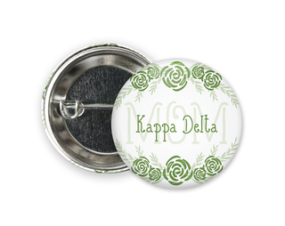 Kappa Delta Mom Floral Button