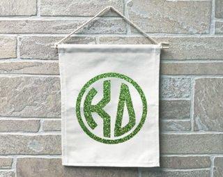 Kappa Delta Monogram Banner