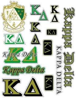 Kappa Delta Multi Greek Decal Sheet