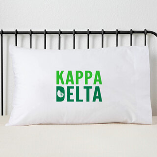 Kappa Delta Name Stack Pillow Cover