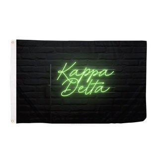 Kappa Delta Neon Flag