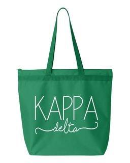Kappa Delta New Handwriting Tote Bag