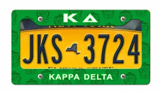 Kappa Delta New License Plate Frame
