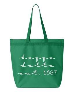 Kappa Delta New Script Established Tote Bag