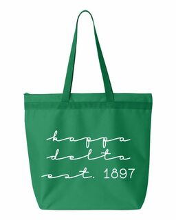 Kappa Delta New Script Established Tote Bag