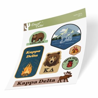Kappa Delta Outdoor Sticker Sheet