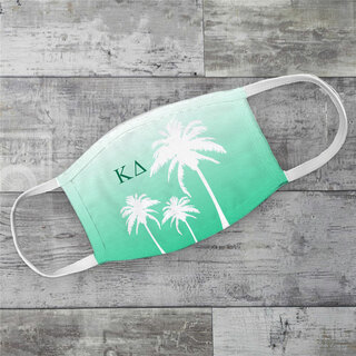 Kappa Delta Palm Trees Face Mask