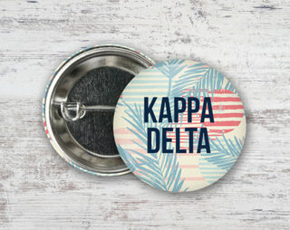 Kappa Delta Paradise Found Button