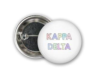 Kappa Delta Pastel Letter Button