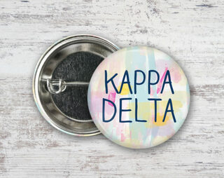 Kappa Delta Pastel Strokes Button