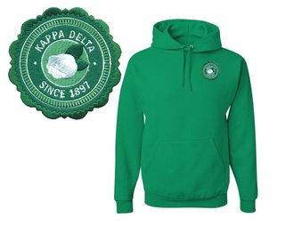 Kappa Delta Patch Seal Hooded Sweatshirt