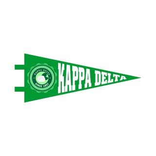 """Kappa Delta Pennant Decal 4"""" Wide"""