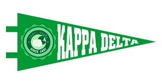 Kappa Delta Pennant Decal Sticker