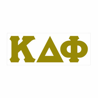 Kappa Delta Phi Big Greek Letter Window Sticker Decal