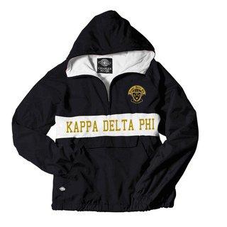 Kappa Delta Phi Charles River Custom Stripe Greek Pullover Anorak