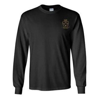 DISCOUNT-Kappa Delta Phi Fraternity Crest - Shield Longsleeve Tee