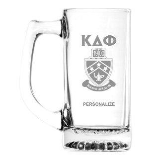 Kappa Delta Phi Glass Engraved 25 Ounce Mug