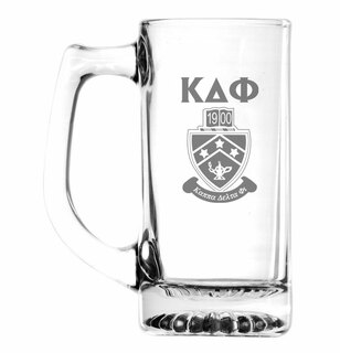 Kappa Delta Phi Glass Engraved 25 Ounce Mug