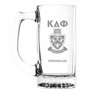Kappa Delta Phi Glass Engraved Mug