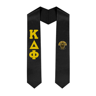 Kappa Delta Phi Greek Lettered Graduation Sash Stole With Crest
