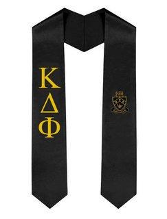Kappa Delta Phi Greek Lettered Graduation Sash Stole With Crest
