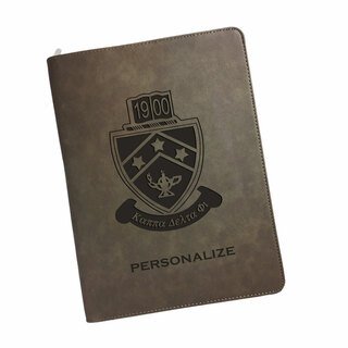 Kappa Delta Phi Zipper Leatherette Portfolio with Notepad