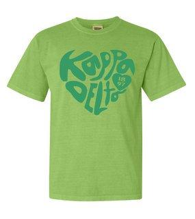 Kappa Delta Piece of My Heart Sorority Comfort Colors T-Shirt