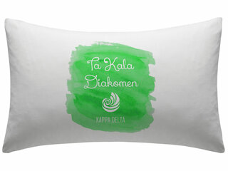 Kappa Delta Motto Watercolor Pillowcase