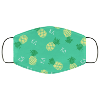 Kappa Delta Pineapples Face Mask