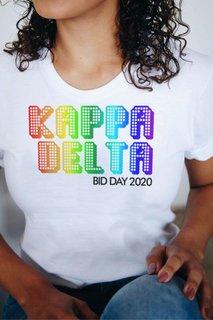 Kappa Delta Pixel Tee - Comfort Colors