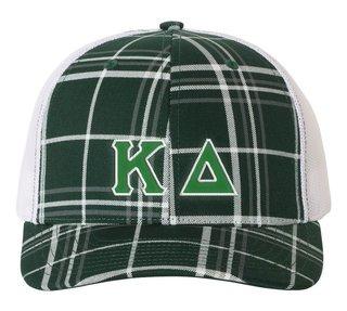 Kappa Delta Plaid Snapback Trucker Hat - CLOSEOUT