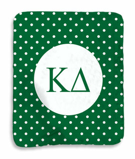 Kappa Delta Polka Dots Sherpa Lap Blanket